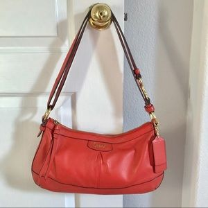 💐 Coach Poppy Red Leather Hobo Purse